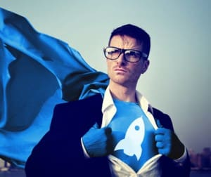 Strong Superhero Businessman growth Concepts